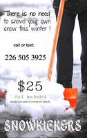 $25 Residential Snow Removal with Salt in KW
