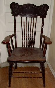 From the farm: aged wood chair with arms