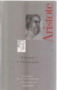 Aristote Éthique à Nicomaque les premiers exploits de la raison