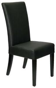 4 High Back Black Leather Dining Room Chair on Clearance Sale