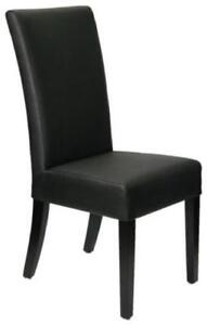 Restaurant Quality High Back Black Leather Dining Room Chair