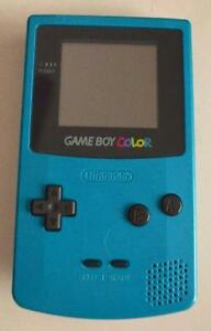 *****TEAL NINTENDO GAME BOY COLOR SARCELLE + JEUX/GAMES(MARIO, ZELDA, POKEMON, DONKEY KONG) A VENDRE/FOR SALE!!!!!*****
