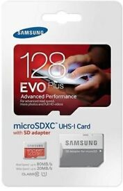 10x 128gb Samsung evo plus micro SD cards and adapters wholesale job lot
