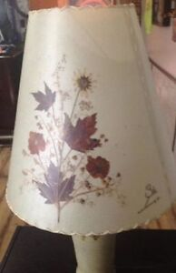 Gorgeous Handcrafted Pottery Lamp with Real Dried Flowers