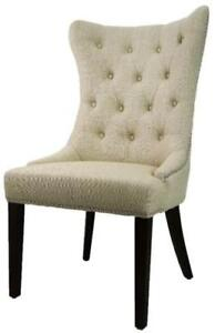 High Back Tufted Accent Leather Dining Chair in many colors