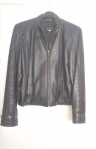 Acton NORTHERN REFLECTION Leather women jacket brass accents