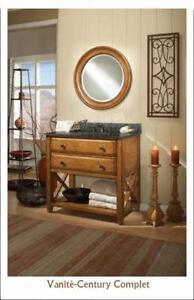 Vanité 36'' en chêne à tiroir Century/Bathroom vanity 36'' oak