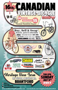DATE CHANGE Canadian Vintage Bicycle Show NEW DATE SUN JULY 9th