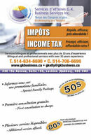 Professional Income tax and Bookkeeping services