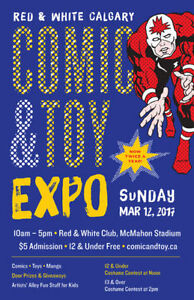 RED & WHITE Calgary COMIC & TOY EXPO SPRING 2017 - 12 MARCH