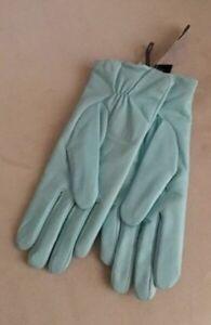 Light Blue Leather Gloves - New! -$30