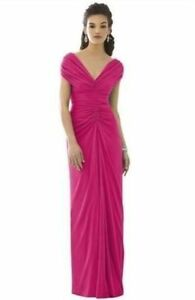 Flattering After Six Bridesmaid Dress 6652 Pink Plus Size