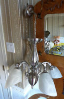 Luminaire Stainless brossé axe cantral 5 branches ampoules 60$ Laval / North Shore Greater Montréal Preview