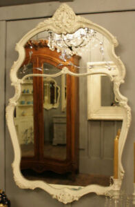 STUNNING FRENCH PROVINCIAL ETCHED MIRROR