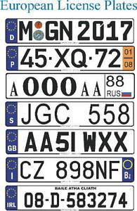 ** CUSTOM EUROPEAN LICENSE PLATES **