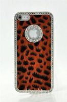 iPhone 4/4S Crystal Bling w/ Red Leopard Case
