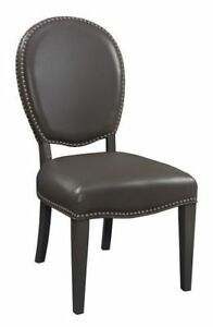On Sale PARSONS LEATHER n FABRIC DINING CHAIRS KITCHEN CHAIRS