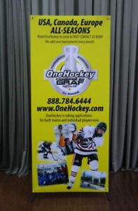 ROLL UP BANNER FULL PRINTING 89.99$