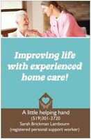 private personal support worker/ home care