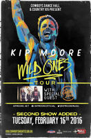 KIP MOORE - TUESDAY, FEB 16TH  Entry Before 8PM,S/C After 8pm