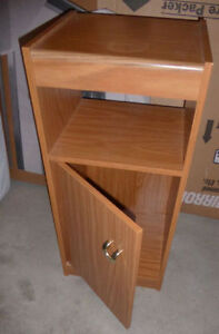 Small cabinet or nightstand $ 5, small shelf $ 5