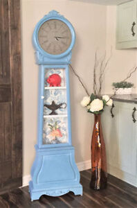 Rare One of a Kind Grandfather Clock/Display Cabinet