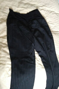 Black Pinstripe Maternity Dress Pants LARGE London Ontario image 1