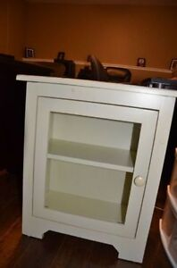 """26"""" Rustic White Wood Cabinet"""