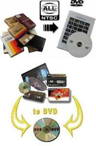 D8,HI8,8MM,MINI-DV,VHS-C,VHS,BETAMAX*NOW PAL-SECAM-NTSC TO DVD.