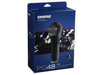 Shure Microphone: PG48, with good long XLR cable