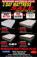 3 DAY SALE MATTRESS SALE ON NOW! PAY NO TAX ON ANY SET