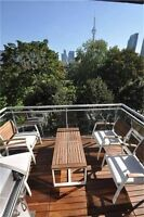 Upscale King West Loft for Lease. Terrace W/CN Tower Views