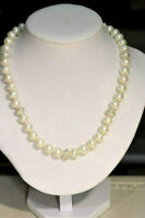 10K White Gold Freshwater Pearl & CC Necklace Appraised