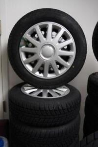 BRAND NEW 2007-2013 MINI COOPER SNOW TIRE AND WHEEL PACKAGE 185/65R15