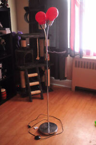 Stunning Silver and Red Decorative Floor Lamp London Ontario image 2