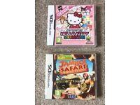 X2 Nintendo DS games Hello Kitty Jambo Safari