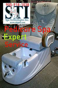 Repairs to Pedicure spas, Salon Equipment Parts, sales & Service