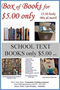 College and Universities textbooks for $5.00 EACH.