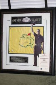 Mike Weir Framed Golf Collectibles
