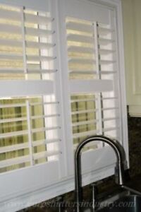 Vinyl Plantation Shutters-Patio Sliding and French door Shutters