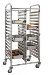 12 Level Stainless Steel Gastronorm Catering Trolley