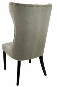 Tufted Accent Dining Chair in Vintage Linen or Neutral Linen