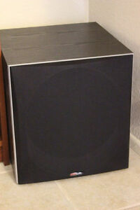 POLK AUDIO PSW505 12 INCH POWERED SUBWOOFER (PRICED NEW AT $586)