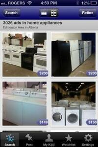 USED HOME APPLIANCES ON SALE!! FULL 1 YEAR IN HOME PREMIUM WARRANTY!!! 16665 111 AVE