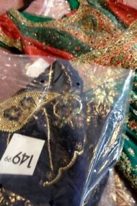 BRAND NEW SAREE WITH GOLD WORK CLASSIC DESIGN$50 RETAIL$149.99