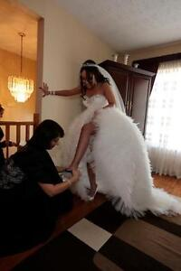Wedding Dress- Steamed, Cleaned- READY for your Special Day!