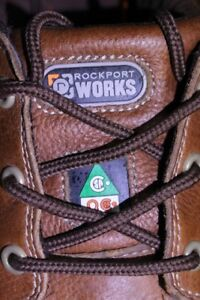 Rockport Works Safety Shoes steel toe Work Boots size US 10 ½ W