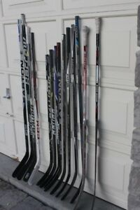 Hockey sticks left and right composite junior and senior sizes