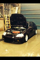 2000 Honda Civic B18c type R Bicorps