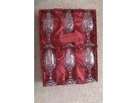 Crystal Champagne Flutes, Unused in presentation box.